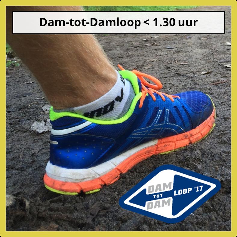 Hardloopschema Dam-tot-Damloop 1.30uur