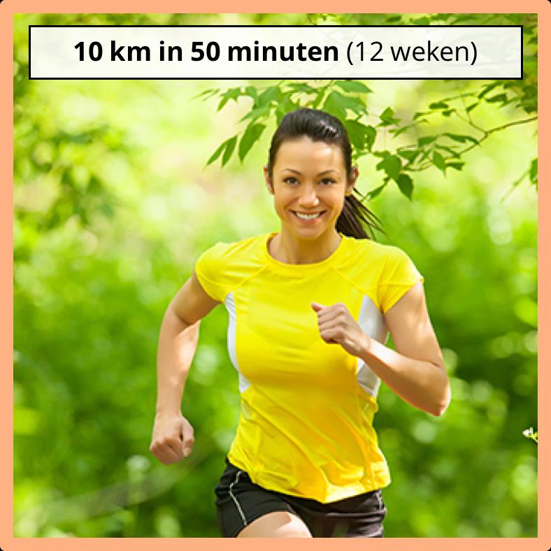 HardloopschemaShop 10km in 50 minuten