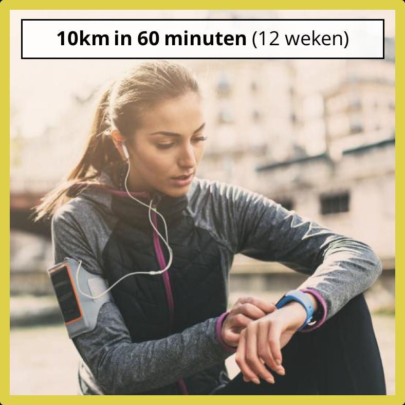 10 km in 60 minuten