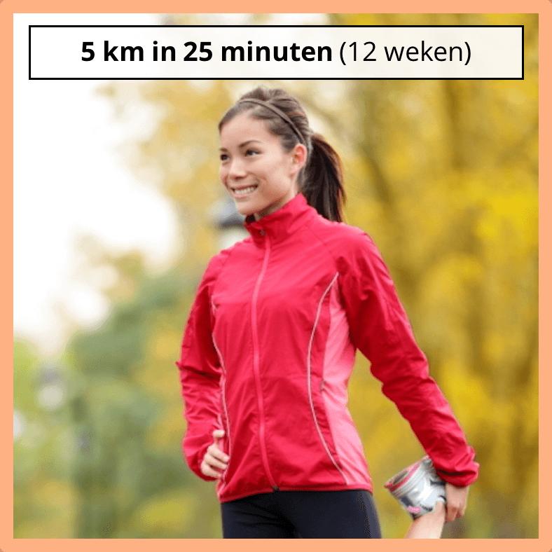 5km in 25 minuten