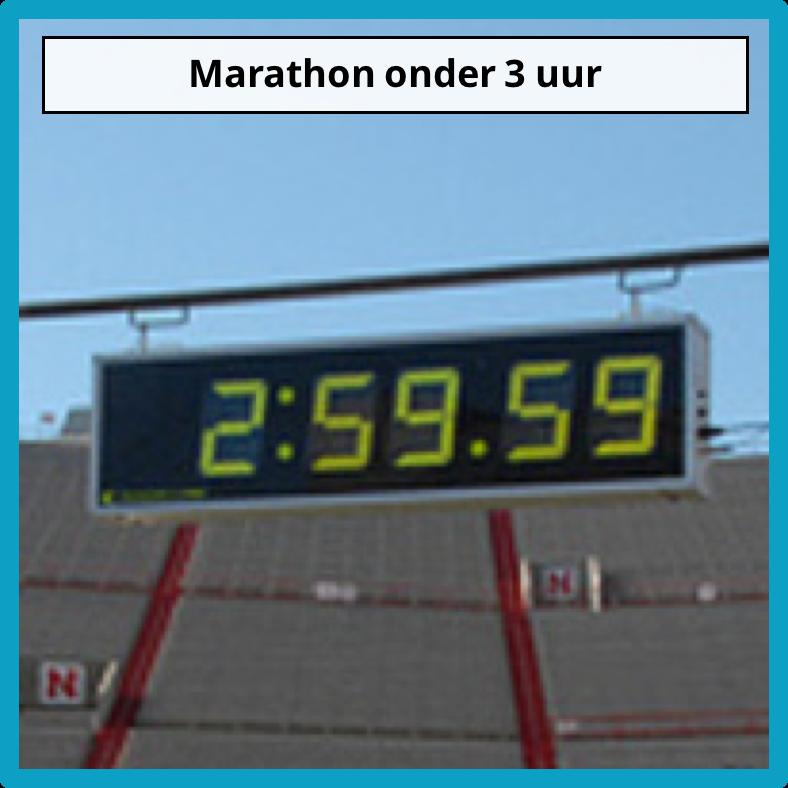 Marathon onder 3 uur